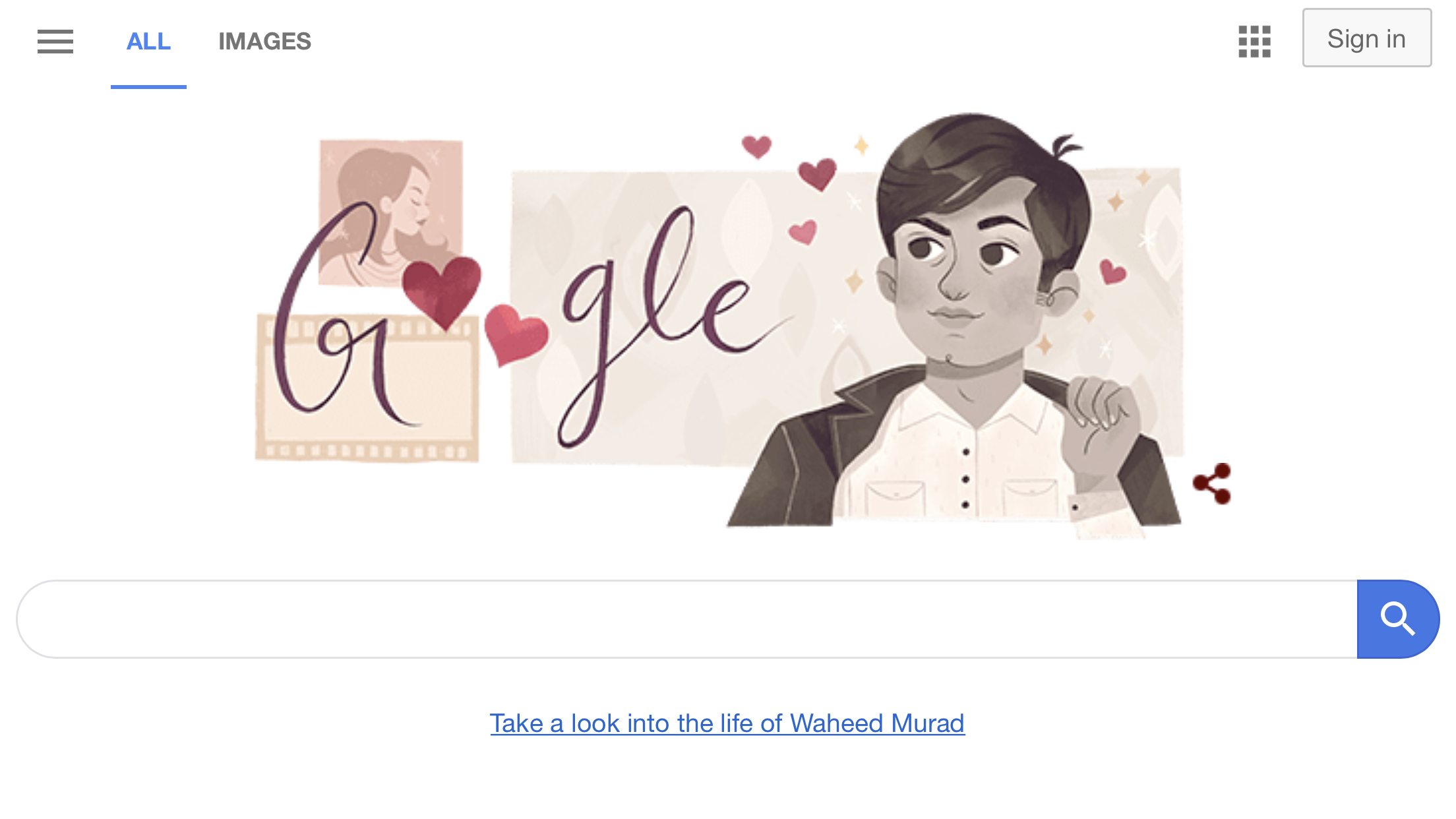 Google marks 81st birth anniversary of Waheed Murad |