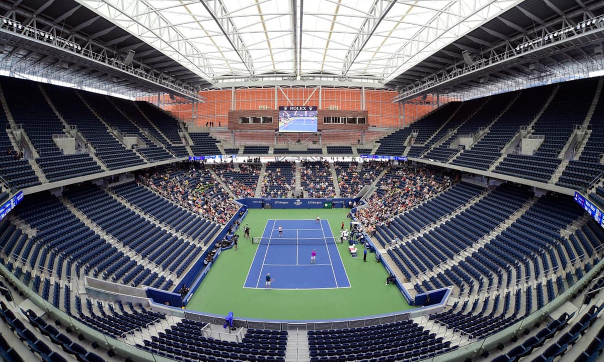 US Open Tennis Courts turned into temporary hospitals